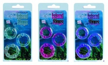 Silicone Island Rings Purple