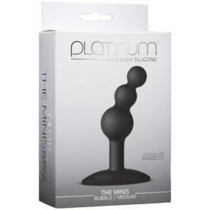 Platinum Premium Silicone The Minis Black Bubble Medium