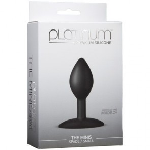 Platinum Premium Silicone The Minis Black Spade Small