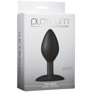 Platinum Premium Silicone The Minis Black Spade Medium