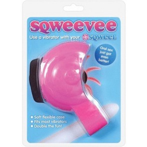 Sqweevee Flexible Vibrator Case For Sqweel Pink