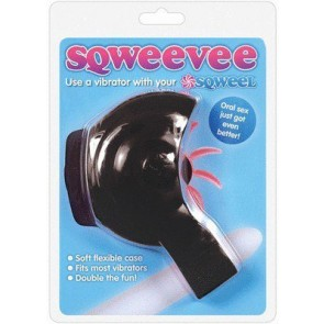 Sqweevee Flexible Vibrator Case For Sqweel Black