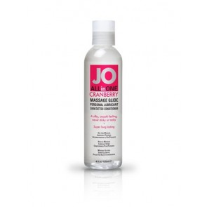 JO Sensual Massage Glide Cranberry 4oz/118ml
