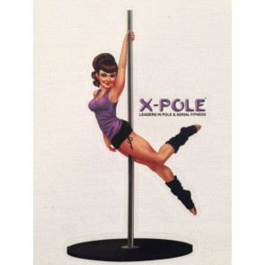 SHOWGIRL STATIC 45mm CHROME Pro Grade Pole by X-POLE