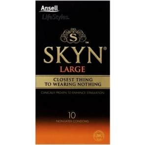 Ansell Skyn Large 10'S