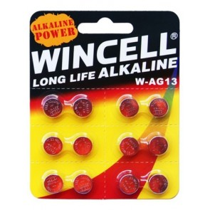 Wincell Long Life Alkaline AG13 (12 Pack)