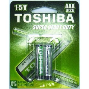 Toshiba AAA Super Heavy Duty Carded Batteries (4 pack)