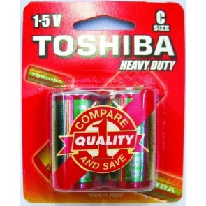 Toshiba C Heavy Duty Carded Batteries (2 pack)