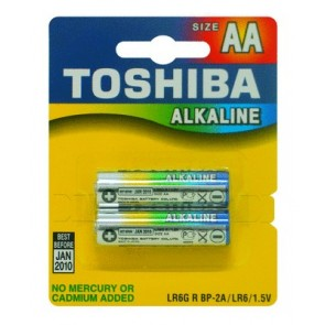 Toshiba AA Alkaline Carded Batteries (2 pack)