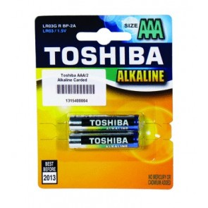 Toshiba AAA Alkaline Carded Batteries (2 pack)