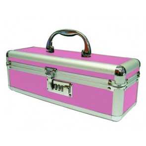 Lockable Vibrator Case Medium Pink