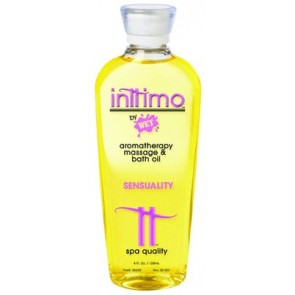 Inttimo by Wet Aromatherapy Massage and Bath Oil 4.0oz / 120ml Sensuality