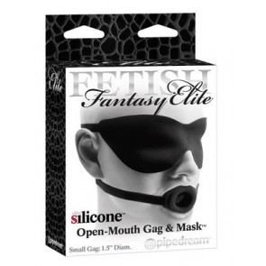 Fetish Fantasy Elite - Open Mouth Gag and Mask (Large) Red