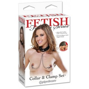Fetish Fantasy Collar and Clamp Set