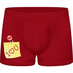 S-Line Funny Boxers I Love You
