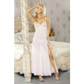 PURE Embroidered Gown & G-String Medium Pale Pink