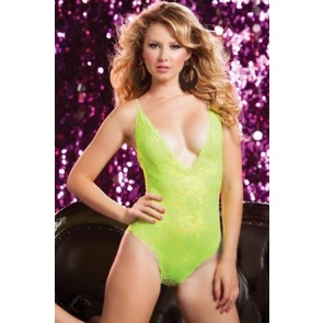Life In The Fast Lane Lace teddy STM-9498P-O/S-YELLOW