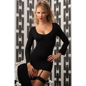 Skull of Anarchy Seamless long sleeve dress skull design and removable garters STM-9728P-O/S-BLACK