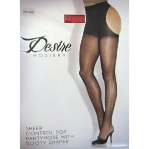 Desire Booty Shaper Pantyhose OS Red