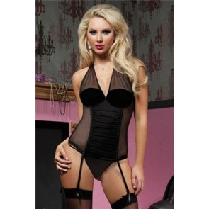 Perfectly Glamourous Mesh bustier STM-9568P-L-Blk