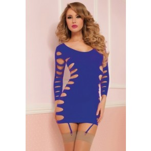 Flashy Cage  Seamless Dress STM-9862P-OS-Purple