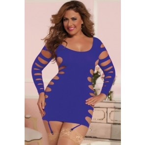 Flashy Cage  Seamless Dress STM-9862Xp-OSX-Purple